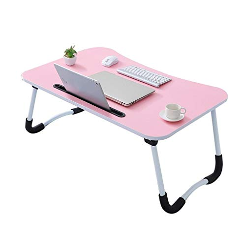 LiRuiPengBJ Lap desks Laptop Desk, Simple Laptop Table Notebook Stand for Bed with Card Slot, Snack Table, Sofa Side Table Coffee Table, Bedroom Bedside Table (Color : Style2)
