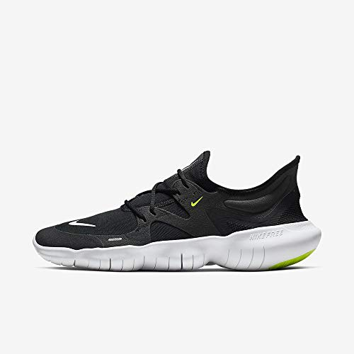 Nike Men's Free RN 5.0 Running Shoe (9.5 M US, Black/White/Anthracite)