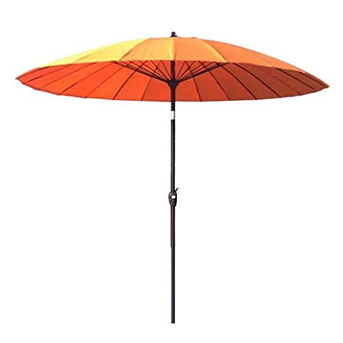 WGFGXQ Sombrilla de jardín al Aire Libre | 2.7M |Redondo/Inclinable/con Manivela/Paraguas 38MM, para Terraza/Patio/Balcón/Mesa de Centro (12 Colores) - sin Base