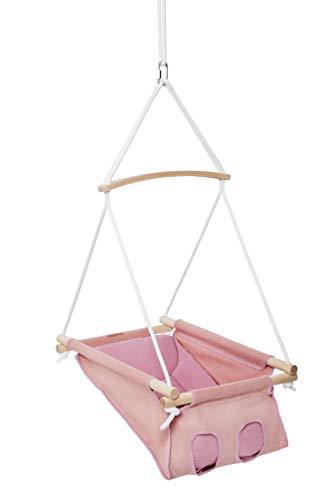 STODOMED Hängenest Babyhängematte Babywiege Babyschaukel Hängewiege Wiege pink