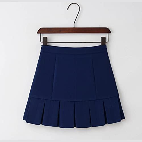 Skorts atléticos para Mujer Faldas activas Ligeras con Pantalones Cortos Pockets Running Tennis Golf Workout Deportes 0508 (Color : Blue, Size : Small)