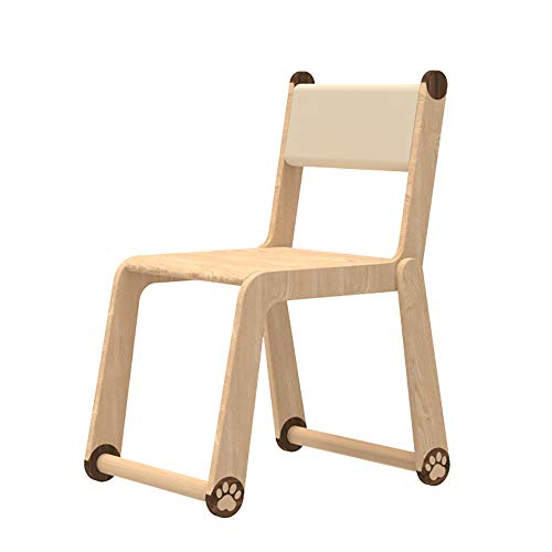 WENCY kinderstoel massief hout dier patroon verstelbare hoogte ladder stoel benen anti-slip mat minimalistische stijl