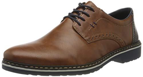 Rieker Frühjahr/Sommer 16513, Zapatos de Cordones Derby Hombre, Marrón (Peanut/Ozean/ 24 24), 42 EU