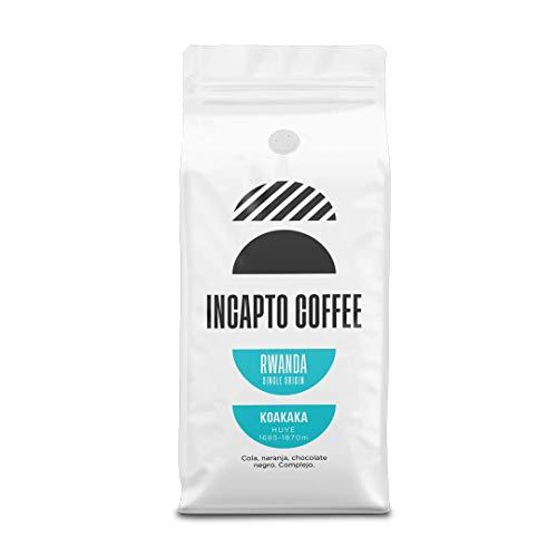 Incapto Coffee - Café en Grano de Ruanda Huye Koakaka 1000g | Café Africano | Intenso y Aromático | Notas de Naranja, Chocolate Negro y...