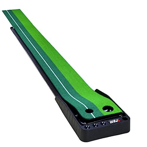 Putter Para Entrenamiento De Golf Para Interiores Putting Green - Alfombrilla Portátil Con Función De Retorno Automático De La Pelota Con 6 Bolas - Almohadilla De Práctica De Putter Para El Hogar