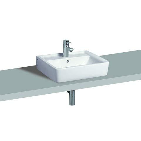 Keramag Renova Nr.1 Plan Aufsatzwaschtisch 600x480 mm mit Hahnloch und Überlauf