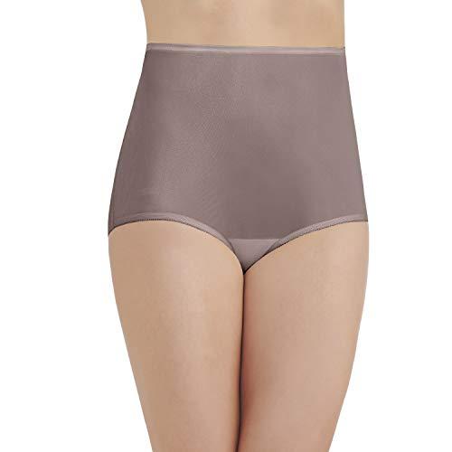 Vanity Fair Women's Perfectly Yours Ravissant Tailored Nylon Brief Panty - Size XX-Large / 9 - Walnut