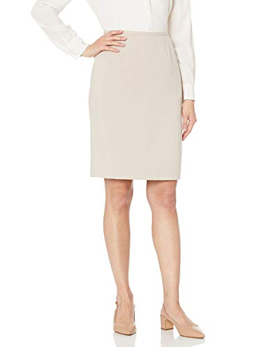 Jones New York Women's Washable Suiting Pencil Skirt, Stone, 8