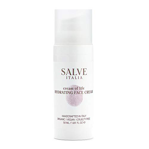 Salve Italia Skincare Cream of Life Hydrating Face Cream (1.69 oz) Complete Day and Night Skin Care Moisturizer with Hyaluronic Acid for Hydrated and Smooth Ageless Glow - Cruelty-Free, Paraben-Free