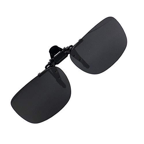 偏光 前掛け クリップ 式 サングラス メガネの上から 紫外線カット UV400 カット 超軽量 跳ね上げ式 OTCMSG2 (スモーク)