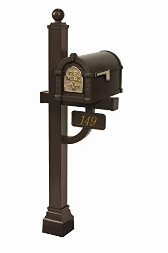 Gaines - Fleur De Lis Keystone Series Custom Mailbox Set (Bronze/Polished...