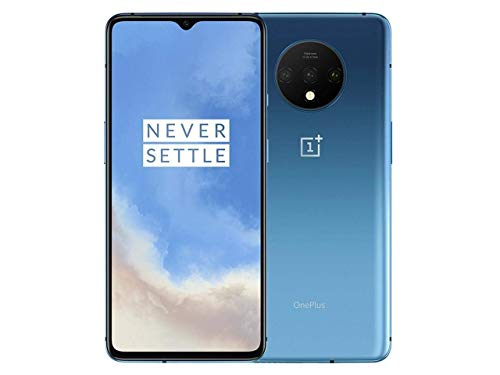 OnePlus 7T HD1900 256GB, 8GB, Dual Sim, 6.55 inch, 48MP Main Lens, Triple Lens Camera, GSM Unlocked International Model, No Warranty (Glacier Blue 256GB+8GB)