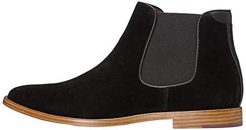 find. Albert Suede-Look Chelsea Boots, Schwarz (Black), 45 EU
