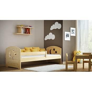 Children's Beds Home - Betthimmel, Einzelbett, Teddy, 160 x 80 cm, Natur, Keine, 11 cm Schaumstoff/Kokosnuss/Buchweizen-Matratze