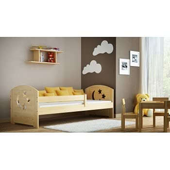 Children's Beds Home - Cama individual - Lily For Kids Niño Niño Junior - Cama individual - Lily - 160x80, Natural, Sí, Colchón de Espuma de 9 cm