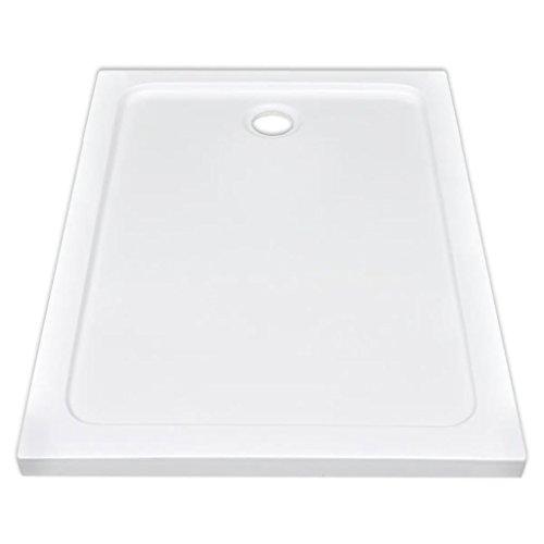 Tidyard Piatto Doccia Rettangolare in ABS Bianco 80 x 110 cm