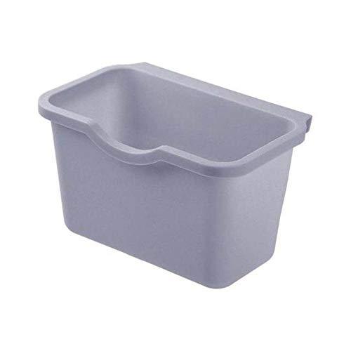 Cesta de plástico para colgar, cubo de basura, cubo de basura, caja de almacenamiento, almacenamiento de basura, soporte de cocina de escritorio, puerta de armario J0H9-D