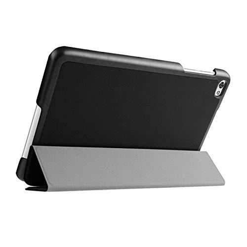 Dmtrab para Huawei MediaPad M2 8.0 Pulgadas Funda, Cuser Texture Texture Horizontal Flip Funda Protectora de Cuero con Soporte de 3 Plegables Cubierta Elegante (Color : Black)