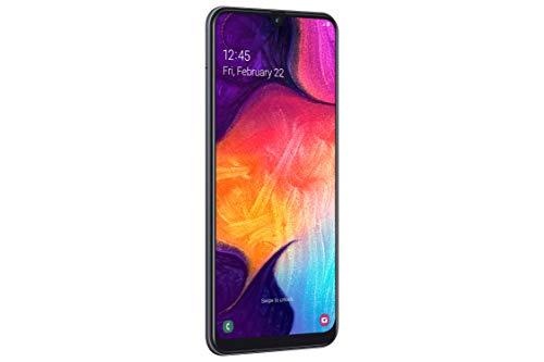 Samsung Galaxy A50 Smartphone Bundle (16.3cm (6.4 Zoll) 128GB interner Speicher, 4GB RAM, Dual sim, Android, Schwarz) + 64 GB SD-Karte   Deutsche Version