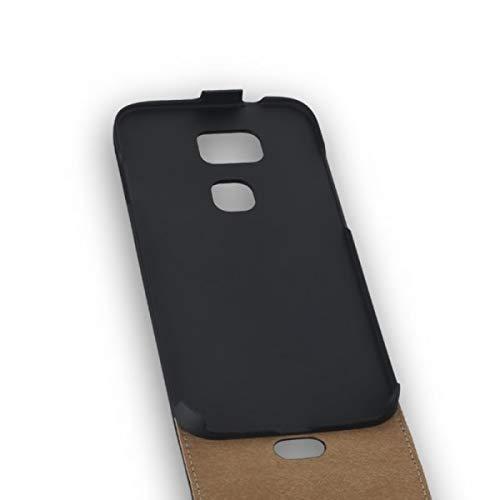 Flip-Style Tasche Vertikal mit Halterung für Huawei G8 - Schwarz