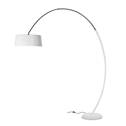 LEDS-C4 Hoop – luminaire pied Hoop 3 x PL E27 23 W blanc mat chrome
