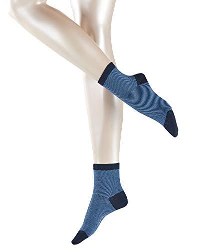 ESPRIT Damen Diagonal W SSO Socken, Blickdicht, Blau (Marine 6120), 39-42 (UK 5.5-8 Ι US 8-10.5) (2er Pack)