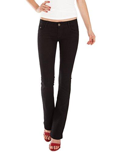 Fraternel Pantalones Vaqueros Mujer Corte Bota Boot-Cut Negro XS / 34 - W27