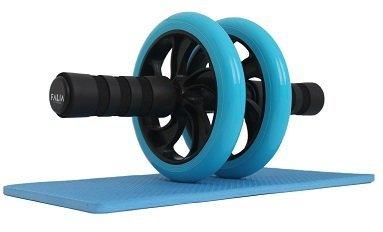FALIA - Rodillo para entrenamiento de abdominales, incluye rodillera para fitness,...