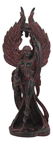 Ebros Irish Celtic War Goddess Morrigan The Phantom Queen Statue Valkyrie Counterpart Battle Pose Figurine Home Decor Statue Triple Goddess Danu Mythology Represents Circle of Life and Death