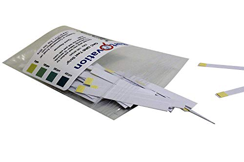 Restaurant Quaternary Ammonium (QAC, Multi Quat) Sanitizer Test Strips, 0-400 ppm [Bag of 100 Plastic Strips]