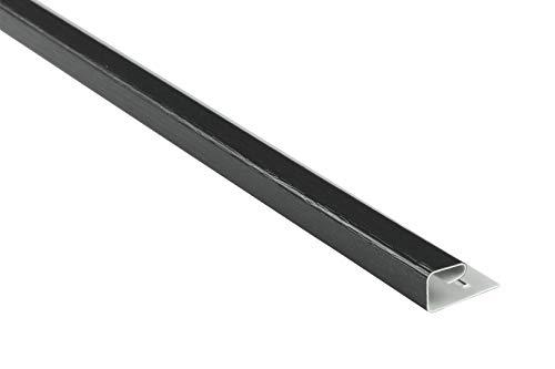 Abschlussprofil für Kunststoffpaneele | anthrazit | Verkleidung | umweltresistent | PVC | außen | Dachkasten | Soffit | Zubehör | 200 x 4 cm