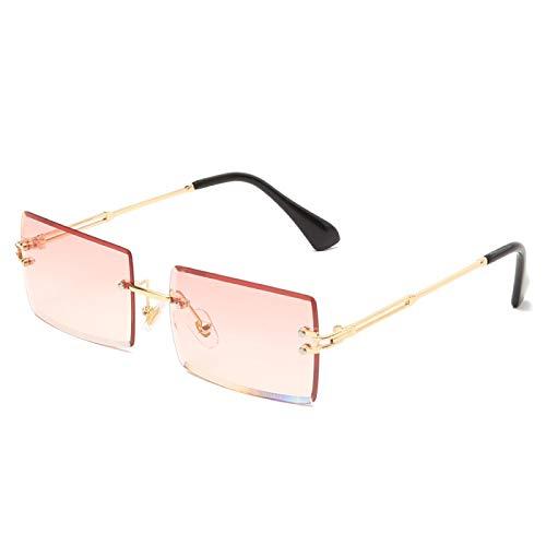Gafas de Sol Sunglasses Gafas De Sol Rectangulares Pequeñas De Moda para Mujer, Gafas De Sol Cuadradas Sin Montura para Mujer, Estilo Veraniego para Mujer, Uv400, Lente A