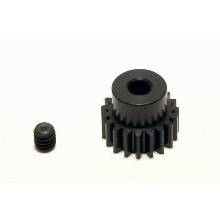 "Robinson Racing 1319 Black Aluminum Pro Motor Pinion Gear, 1/8"" Bore, 48 Pitch, 19 Tooth"