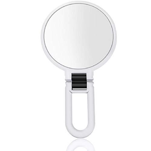 Miroir de maquillage Portatif pliant réglable Miroir de maquillage grossissant Mont, Taille: 15 fois (rose) XY (Couleur : White)