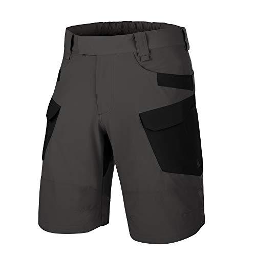 Helikon-Tex Pantalones cortos OTK para hombre, color gris ceniza, negro VersaStretch Lite cintura 32 longitud 11, Outback Line Outdoor Tactical Shorts