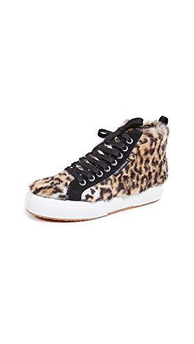Superga Women's x Jocelyn 2795 High Top Sneakers, Leopard, Print, Tan, 9.5 Medium US