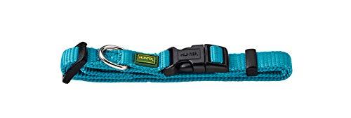 HUNTER VARIO BASIC Hundehalsung, Hundehalsband, robust, geschmeidig, Klickverschluss, M/1,5, petrol