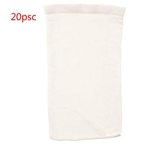Zwembad Filter Sokken Saver Bescherm Scherm s Herbruikbare Schone Grote Mand Mouw Verwijdert puin Fijn Mesh Nylon Wit Net(5st) 20pcs