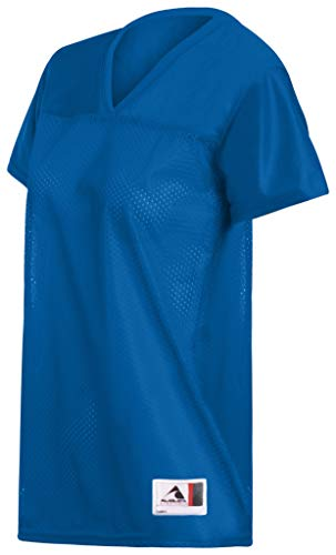 Augusta Ladies Junior Fit Replica Football Jersey, Royal, XX-Large