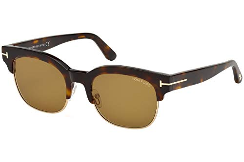 Tom Ford FT0597 Harry zonnebril bruin Havana met bruine lenzen 56E TF597