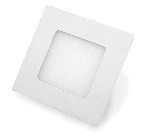 Panneau LED carré avec puissance 4 W, encastrable, blanc chaud, 8,6 cm – Type : ECONOMY SQ04086WW