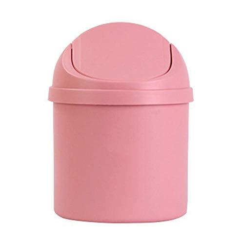 Ogquaton Mini Kunststoff Desktop Mülleimer Mülleimer mit Klappdeckel für Küche Büro Bad langlebig und praktisch