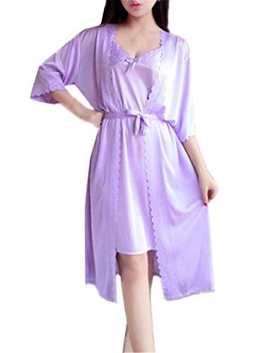 Adelina nachthemd dames normale lak kant dames met nachthemd Sleepwear elegant zacht modieus completi-nachtjurk casual pyjama's