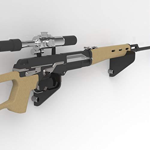 Plexico Gewehrhalter / Musket-Halterung, Acryl, transparent, Schwarz