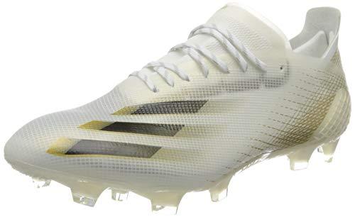 adidas X GHOSTED.1 FG, Zapatillas de fútbol Hombre, FTWBLA/NEGBÁS/OROMEZ, 43 1/3 EU