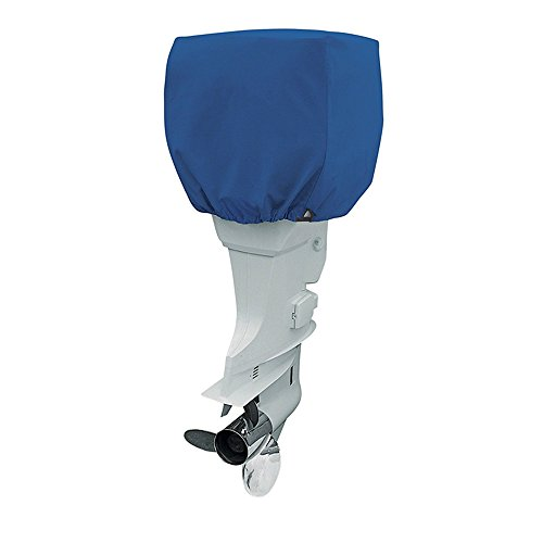 COCO Outboard Motor Cover Waterproof Boat Motor Cover, Outboard Engine Cover Up to 25-50 Horsepower - Trailerable Heavy Duty Water, Mildew Resistant, and UV Resistant with Thick (Blue, 2 Strokes)