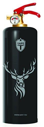DNC TAG Safe-T Feuerlöscher Design REH Hirsch GRAU Deer