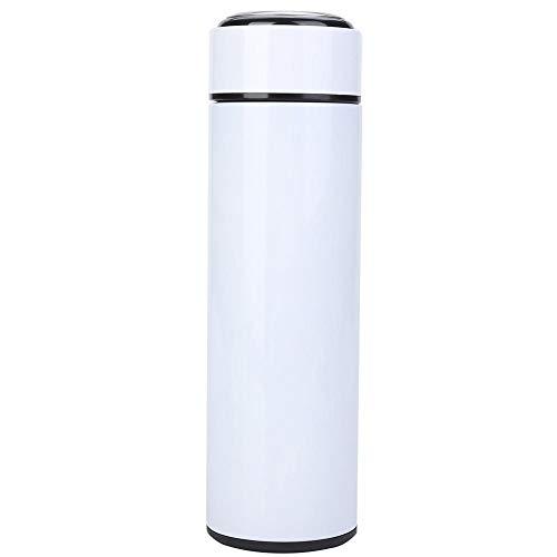 5 colori sottovuoto thermos bottiglia in acciaio inox isolante tazza con coperchio rimovibile perdite di tè per ufficio viaggio auto Infradito colorati estivi, con finte perline