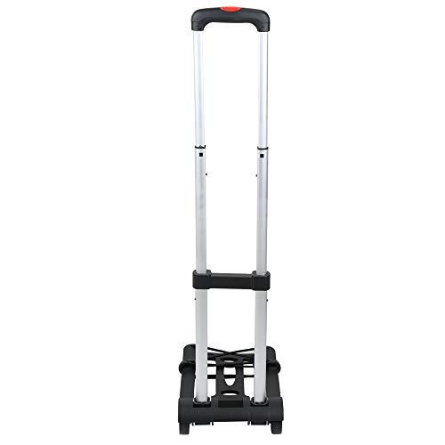 Carrinho de mão de duas rodas dobrável portátil do carrinho do reboque do leito do carrinho do curso da compra da bagagem