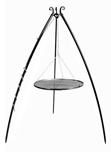 KORONO 5900105401762 Schwenkgrill am Dreibein 200 cm – Grillrost, Rohstal, 110 x 80 x 11 cm